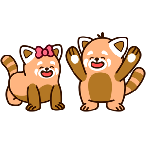 Cute Red Panda Stickers messages sticker-1