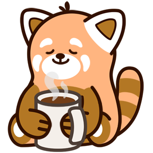 Cute Red Panda Stickers messages sticker-10