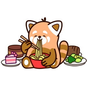 Cute Red Panda Stickers messages sticker-4