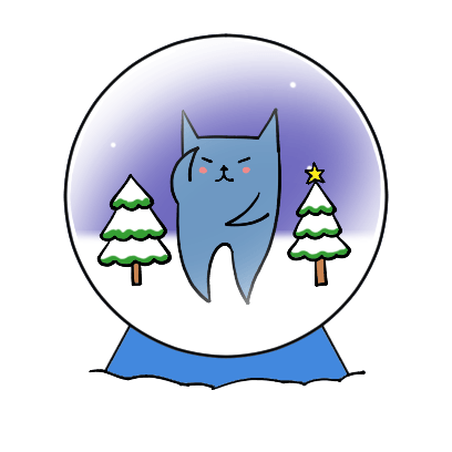 Blucat with Winter messages sticker-8
