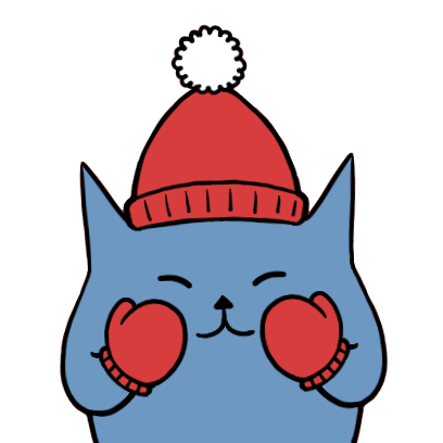 Blucat with Winter messages sticker-9