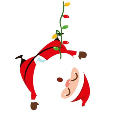 Animated Xmas Santa Stickers messages sticker-2