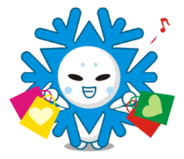 Cute Snowflake Emoji Sticker messages sticker-9