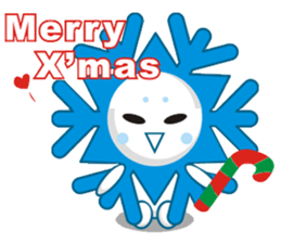 Cute Snowflake Emoji Sticker messages sticker-1