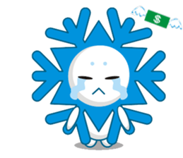 Cute Snowflake Emoji Sticker messages sticker-8