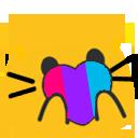 Cat Pride Blobs messages sticker-4