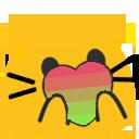 Cat Pride Blobs messages sticker-6