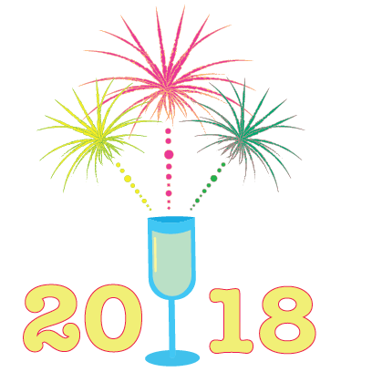Happy New Year - 2018 messages sticker-8