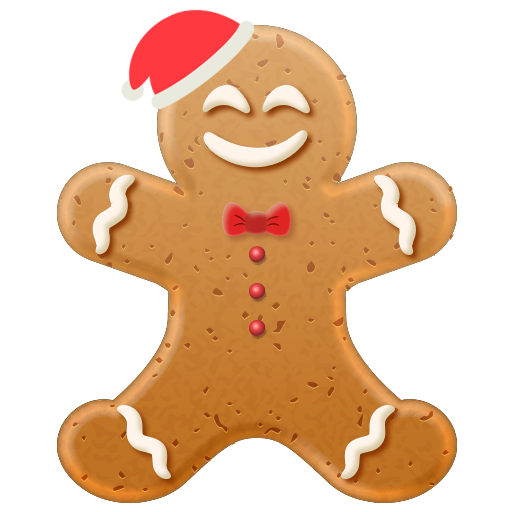 Christmas Gingerbread Emoji messages sticker-1