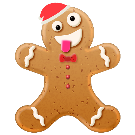 Christmas Gingerbread Emoji messages sticker-7