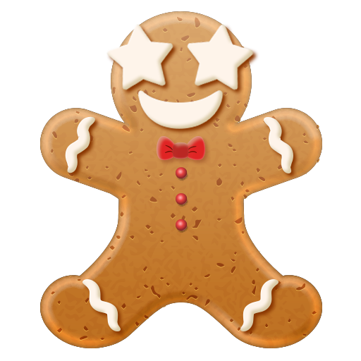 Christmas Gingerbread Emoji messages sticker-4