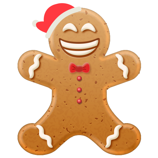 Christmas Gingerbread Emoji messages sticker-9
