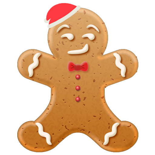 Christmas Gingerbread Emoji messages sticker-6