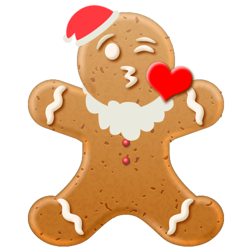 Christmas Gingerbread Emoji messages sticker-3