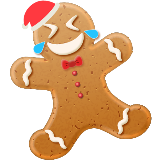 Christmas Gingerbread Emoji messages sticker-0