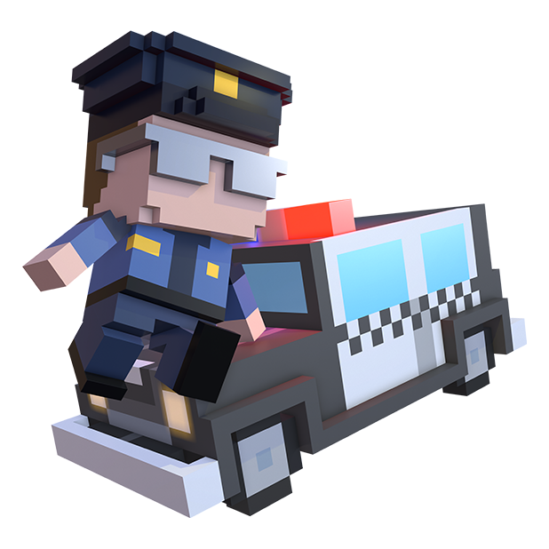 Blocky Cops messages sticker-5