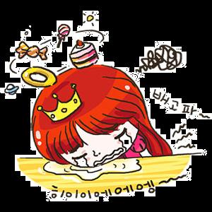 공주님 납시오 messages sticker-11
