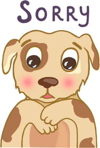 Dog - Cute stickers messages sticker-4
