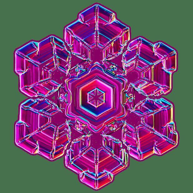Kenneth Libbrecht Snowflakes messages sticker-4