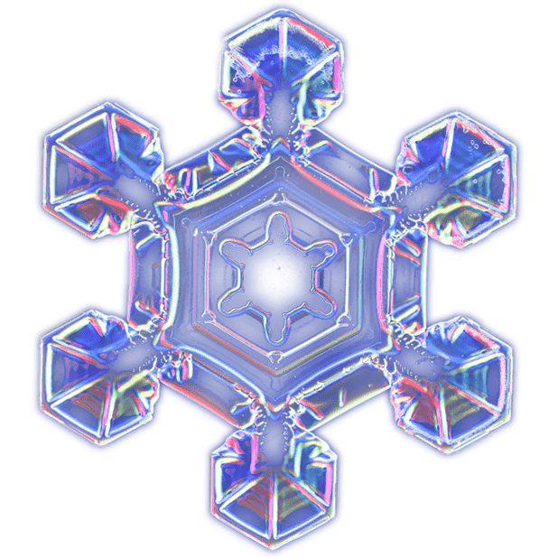 Kenneth Libbrecht Snowflakes messages sticker-3