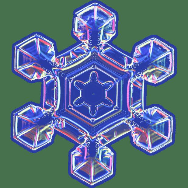 Kenneth Libbrecht Snowflakes messages sticker-3