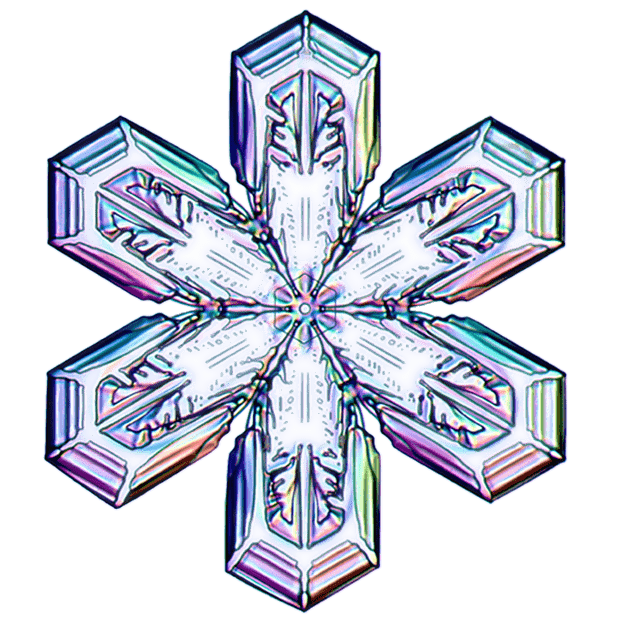 Kenneth Libbrecht Snowflakes messages sticker-0