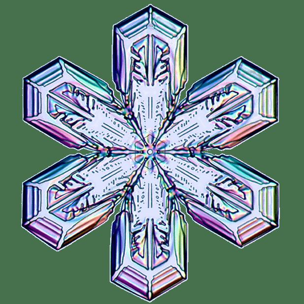 Kenneth Libbrecht Snowflakes messages sticker-0
