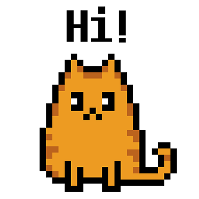 Pixel Cat - Color by Number messages sticker-0