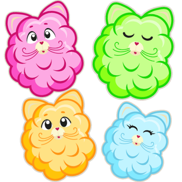 Cotton Candy Mouse Sticker messages sticker-6