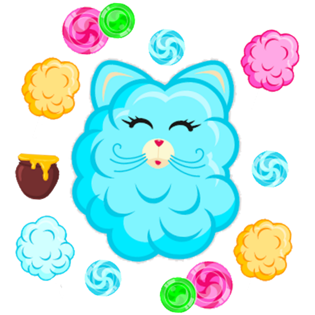 Cotton Candy Mouse Sticker messages sticker-4