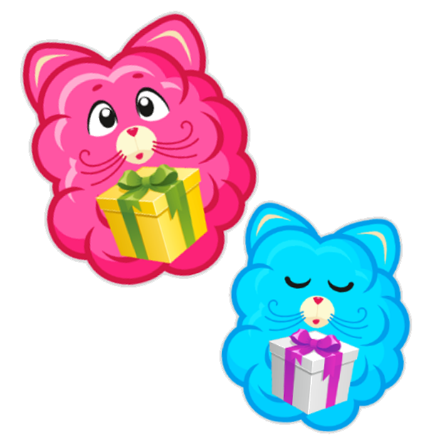Cotton Candy Mouse Sticker messages sticker-5