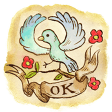 Beautiful Pigeon Bird Sticker messages sticker-8
