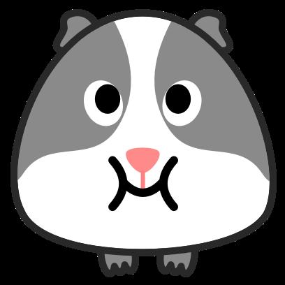 Guinea Pig Emoji messages sticker-7