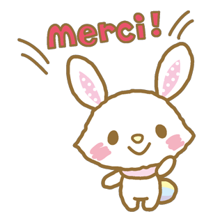 short leg rabbit messages sticker-0