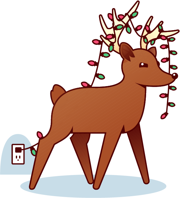 Holiday Reindeer messages sticker-11