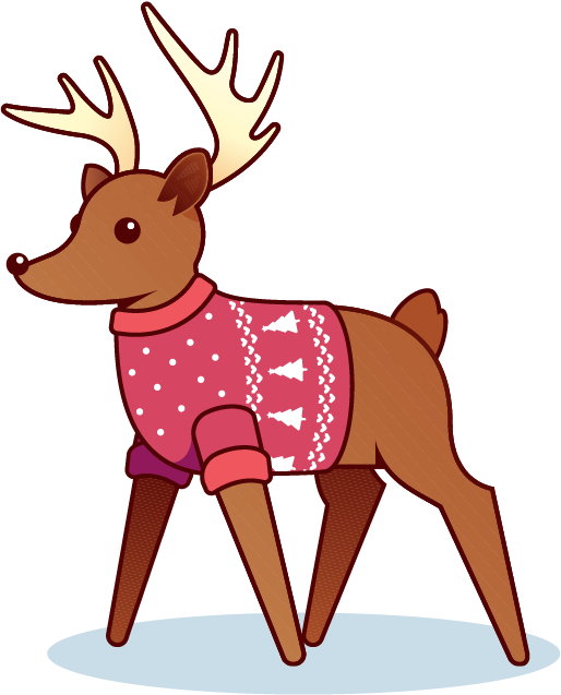 Holiday Reindeer messages sticker-4