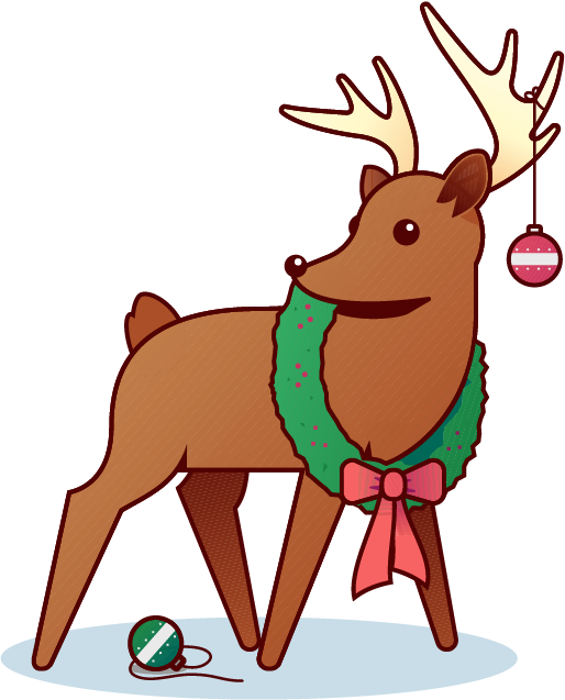 Holiday Reindeer messages sticker-0
