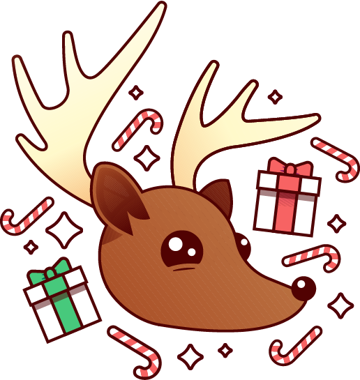 Holiday Reindeer messages sticker-7