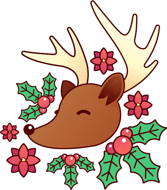 Holiday Reindeer messages sticker-1