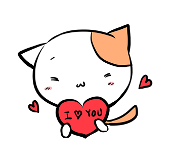 Mi-Ke the Cat Stickers messages sticker-2