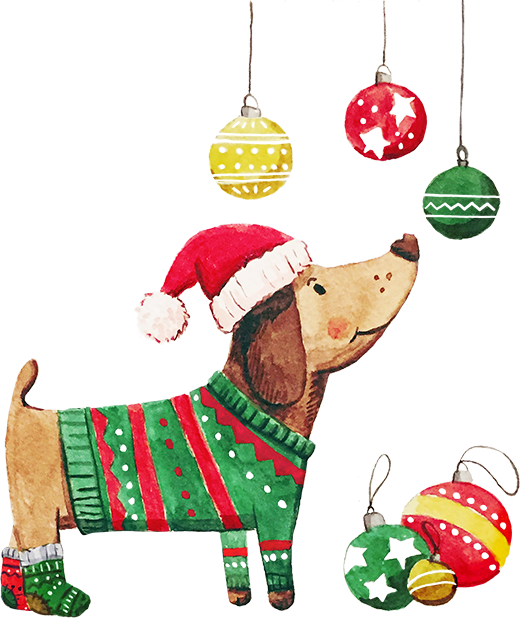 New year with puppies messages sticker-3