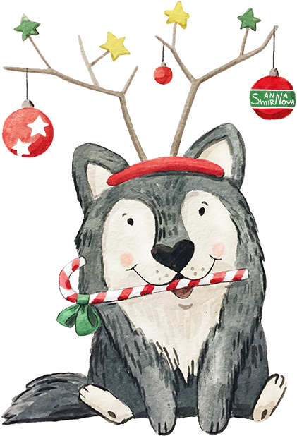 New year with puppies messages sticker-4