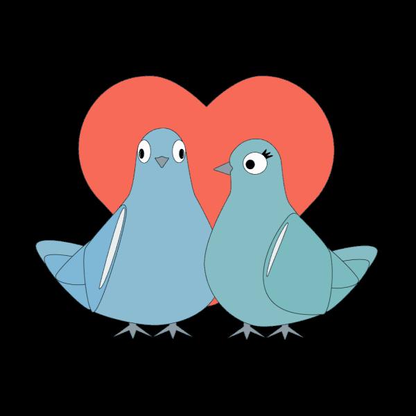 Love Pigeons messages sticker-0