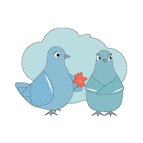 Love Pigeons messages sticker-1