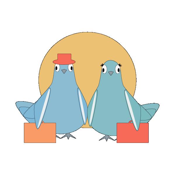 Love Pigeons messages sticker-2