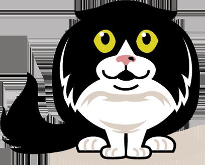 eatdrinkcat Kitty Stickers messages sticker-0