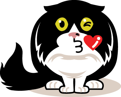 eatdrinkcat Kitty Stickers messages sticker-3