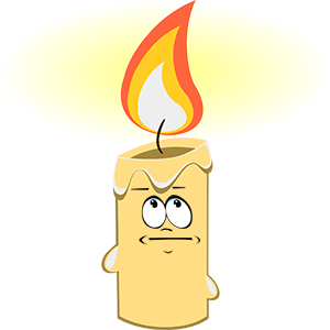 Marvin the Candle messages sticker-1