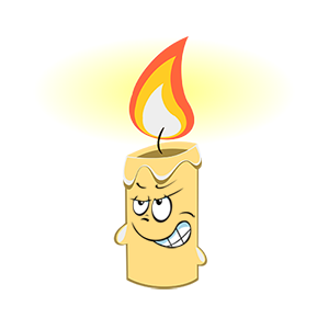 Marvin the Candle messages sticker-4