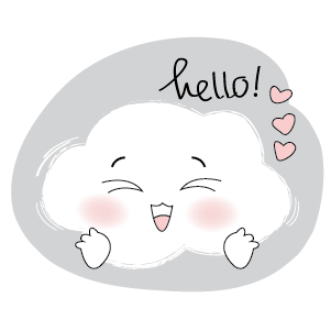 Lovely Cloud Stickers messages sticker-6